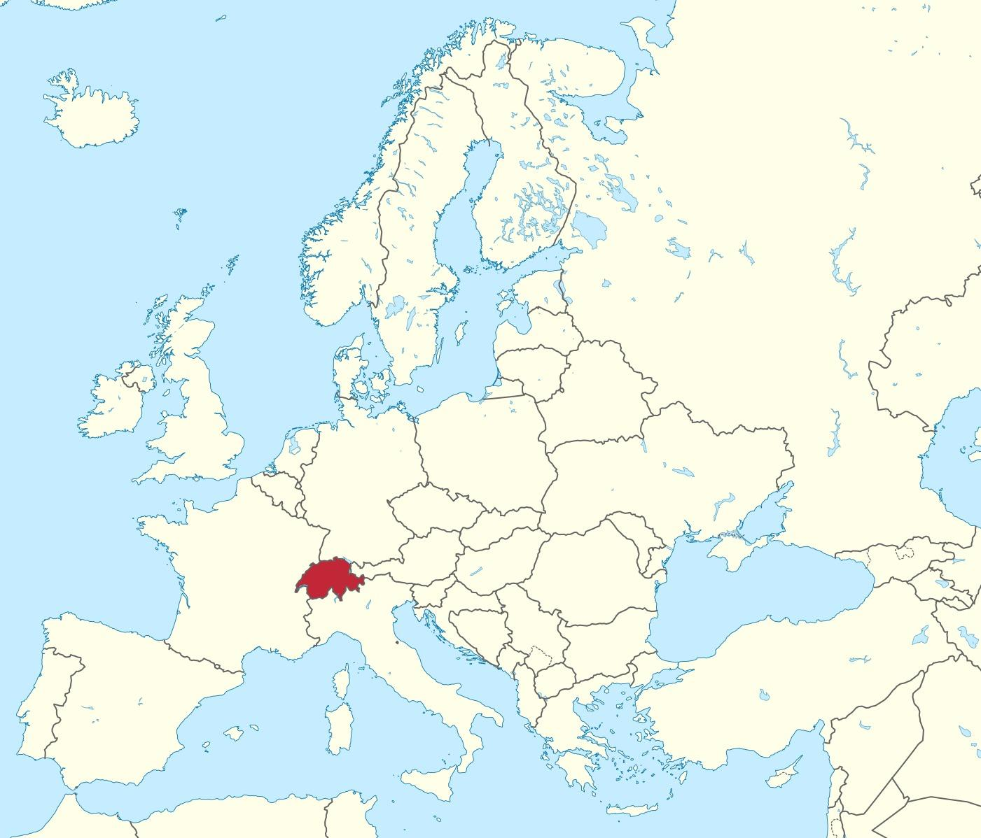 Sveitsi Kartta Sijainti Maailman Kartta Sveitsi Korostettu