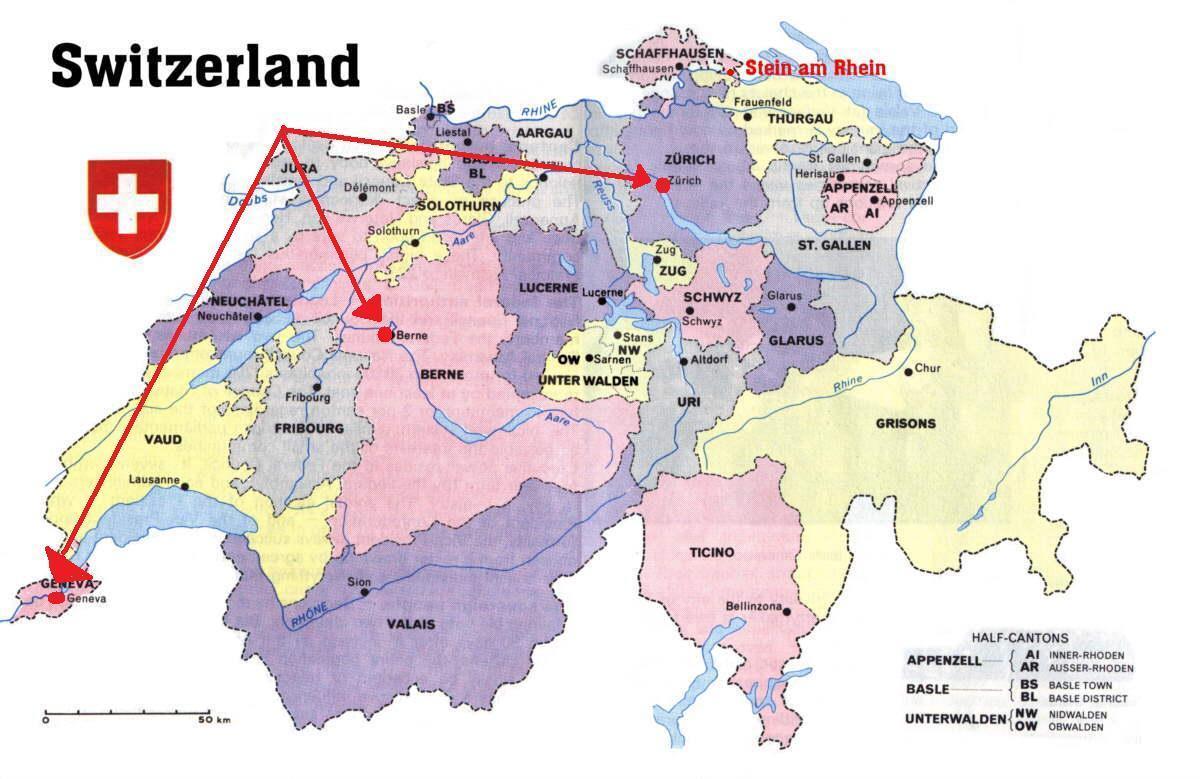 Geneven Sveitsi Kartta Geneven Sveitsi Kartta Europe Lansi